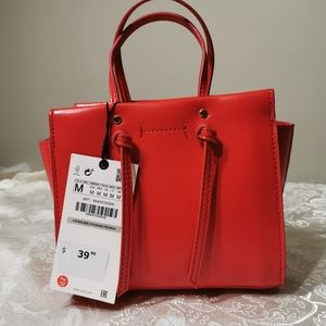 Zara Mini City Bag Red
